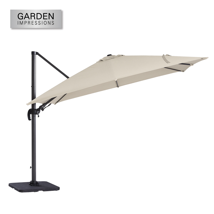 Hawaii II parasol  3 x 3 meter royal grey-ecru