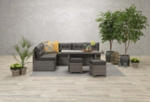 Set Coral wicker organic grey