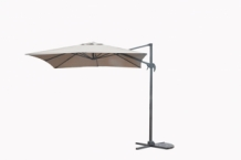 Hawaii S parasol 250cm x 250cm  royal grey- sand