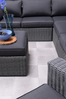 Loungeset Silverbird wicker 5 delig earl grey