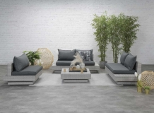 Loungeset Capetown wicker 4 delig vintage grey