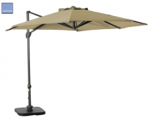 Hawaii II parasol rond 350cm royal grey-ecru