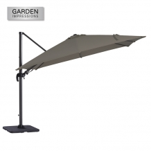 Hawaii Original parasol 3 x 3 meter royal grey- grijs