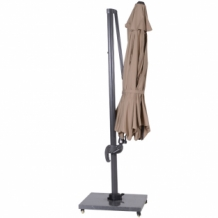 Hawaii II parasol rond 350cm royal grey-taupe