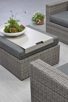 Loungeset Orangebird wicker 5 delig organic grey