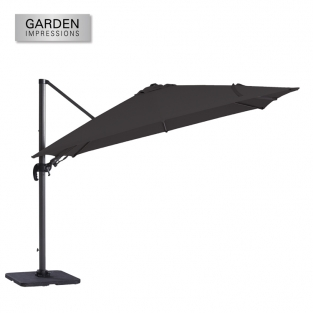 Hawaii II parasol 3 x3 meter royal grey-zwart